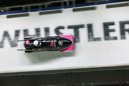 New Zealand Bobsled in action